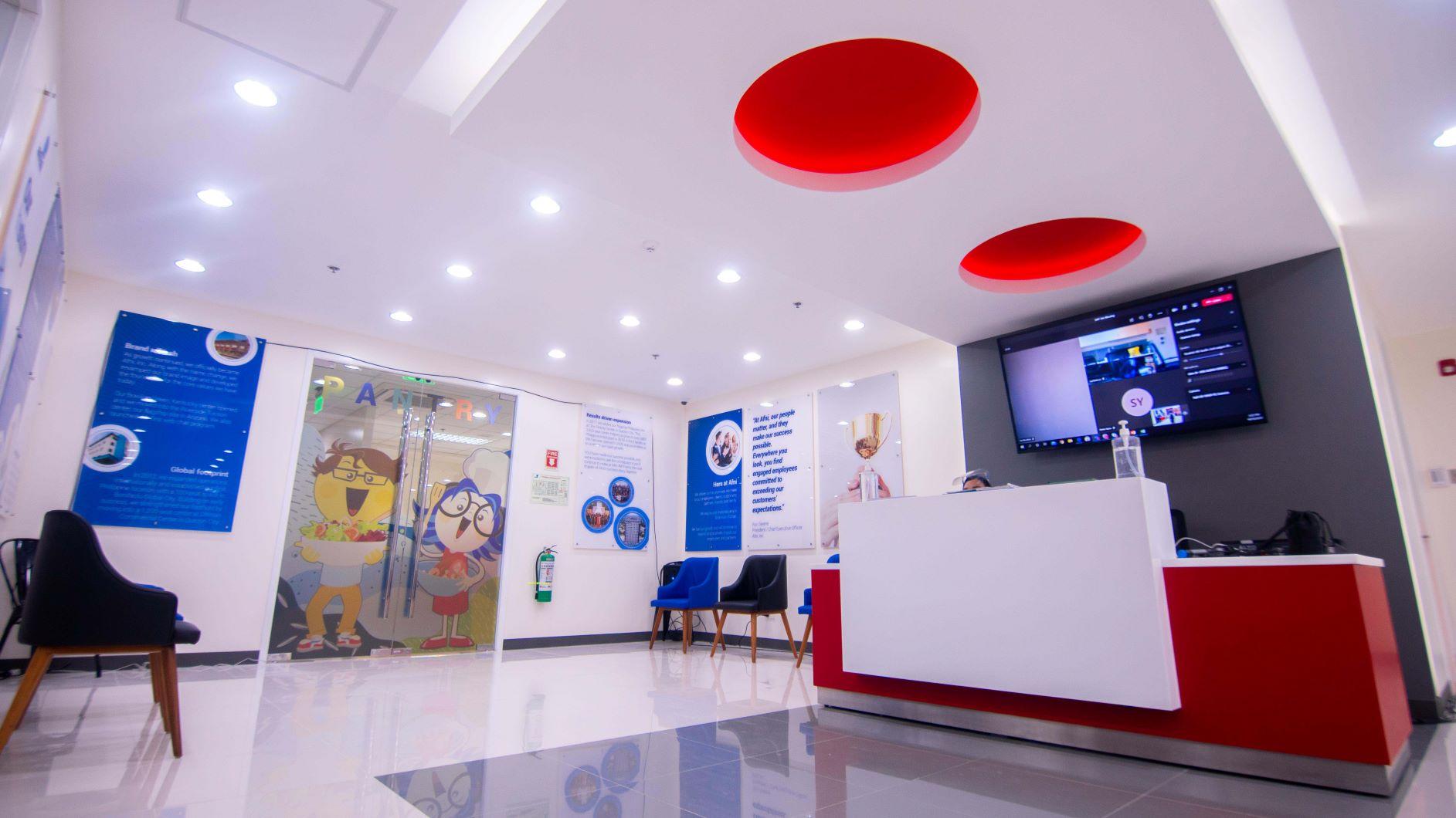 Afni SMCF reception area